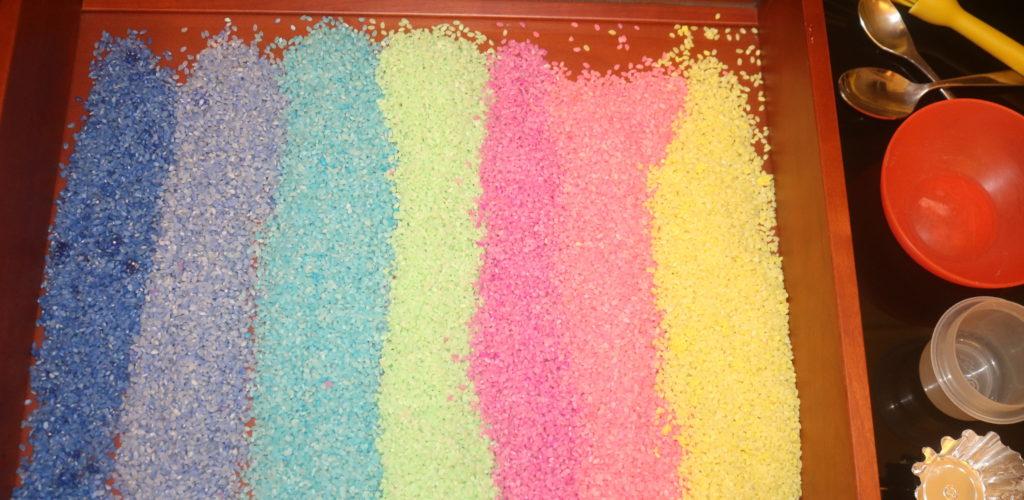 I travasi con il riso colorato