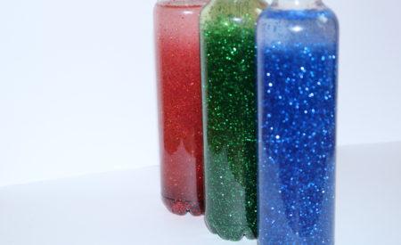 Le bottiglie della calma, le sensory bottles